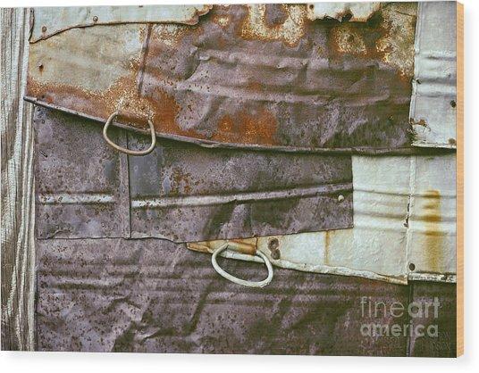 rustic abstract photograph - Sheet Metal Wall Wood Print
