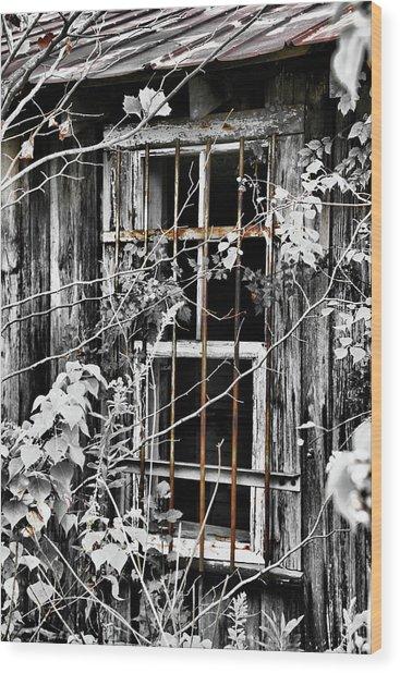 Rustic Barn Window Wood Print