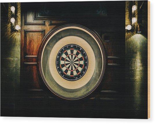 Rustic British Dartboard Wood Print