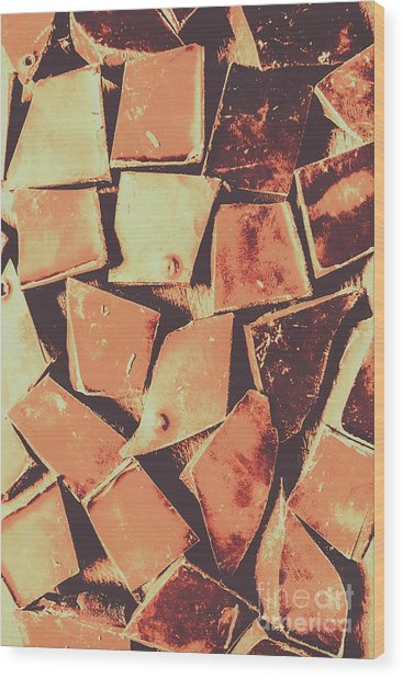 Rustic Choc Block Wood Print