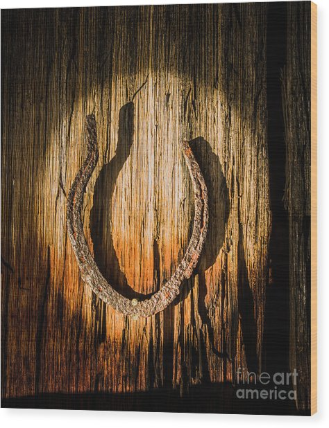 Rustic Country Charm Wood Print