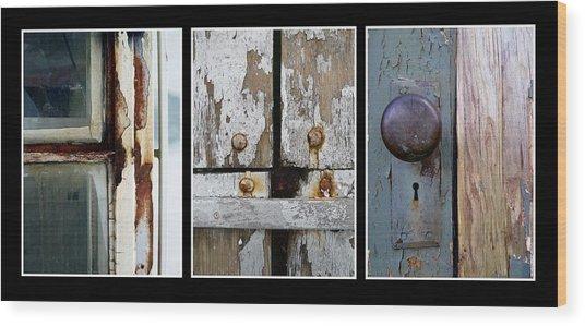 Rustic Elements Wood Print