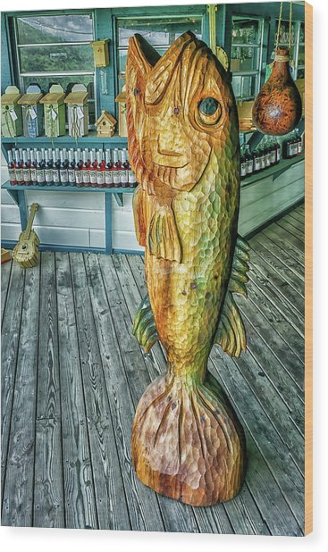Rustic Fish Wood Print