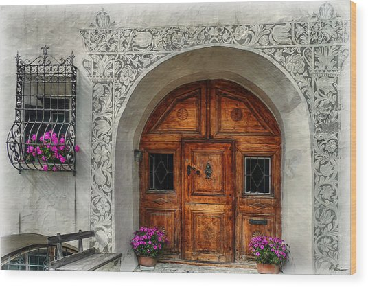 Rustic Front Door Wood Print