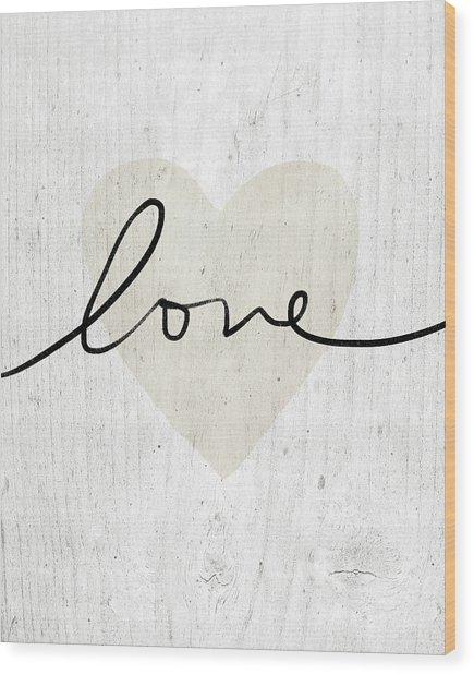 Rustic Love Heart- Art By Linda Woods Wood Print