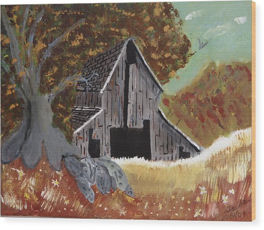 Rustic Old Barn Wood Print