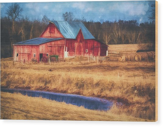 Rustic Red Barn Wood Print