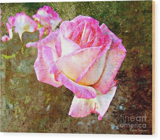 Rustic Rose Wood Print