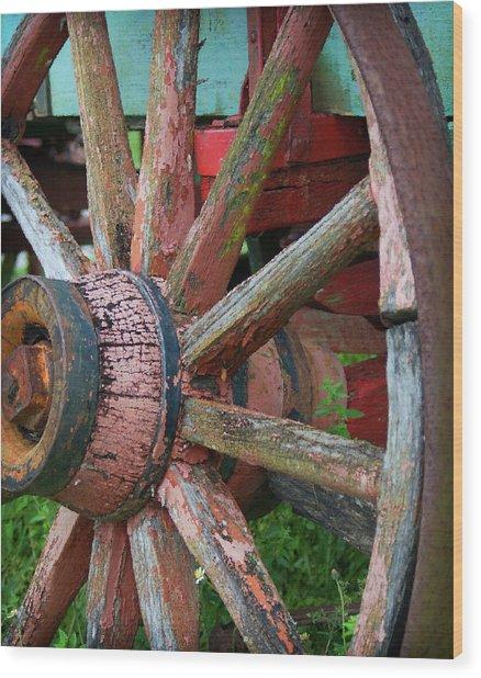 Rustic Spoke Wood Print