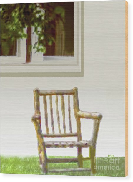 Rustic Wooden Rocking Chair Wood Print