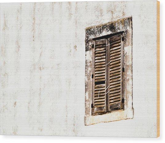 Finestra Rustica Wood Print