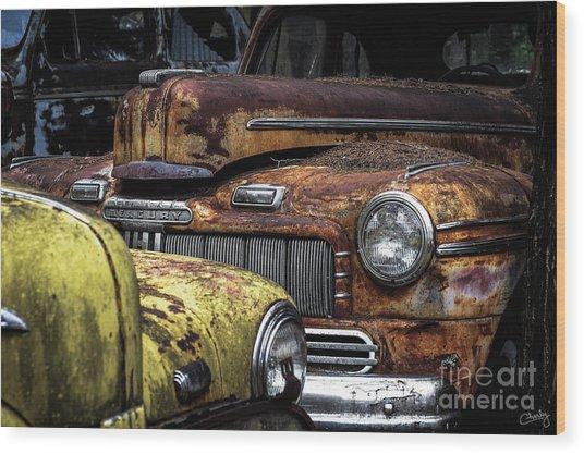 Rusting Away ... Wood Print