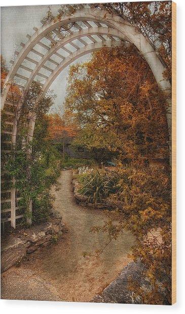 Rusting Garden Wood Print