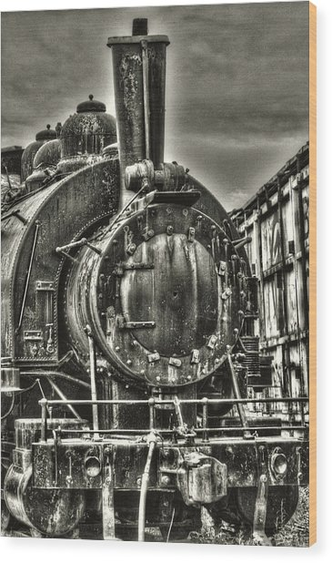 Rusting Locomotive Wood Print