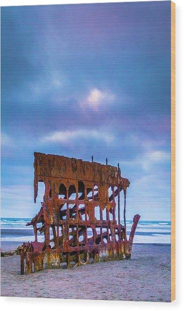 Rusting Peter Iredale Wood Print