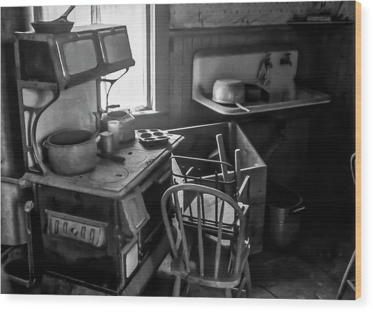 Rusting Pots And Pans, Bodie Ghost Town Wood Print
