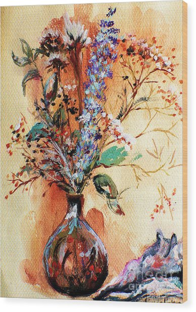 Rusty Arrangement Wood Print