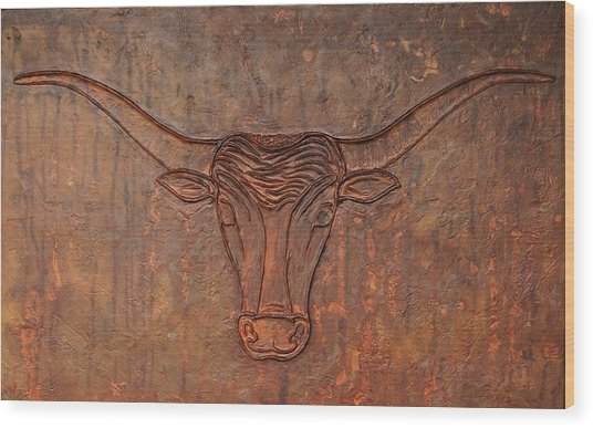 Rusty Bevo Wood Print