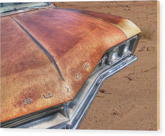 Rusty Buick Wood Print by Gill Billington