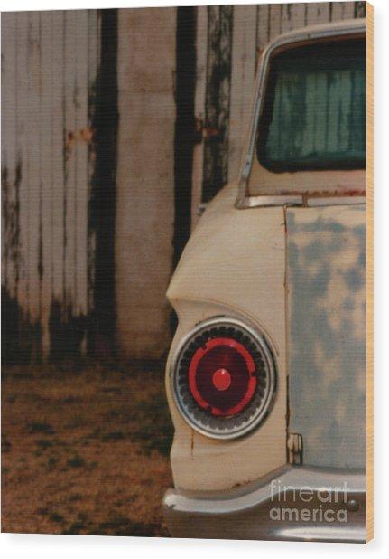 Rusty Car Wood Print