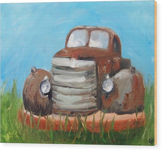 Rusty Wood Print by Cari Humphry
