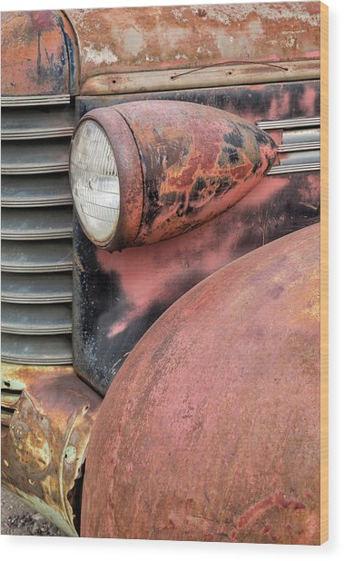 Rusty Classic Wood Print