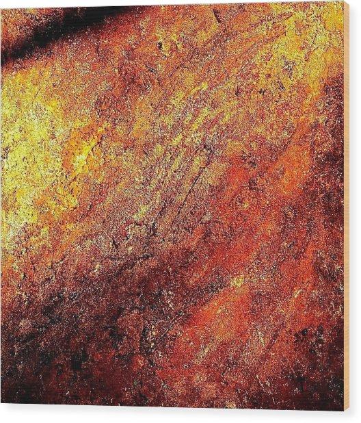 Rusty Flirt Wood Print