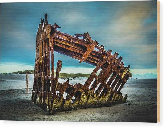 Rusty Forgotten Shipwreck Wood Print