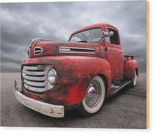 Rusty Jewel - 1948 Ford Wood Print