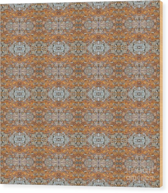 Rusty Lace Wood Print