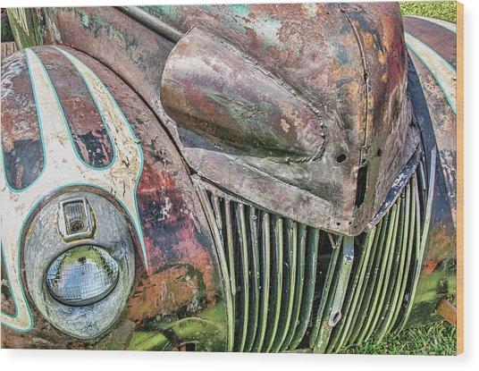 Rusty Road Warrior Wood Print