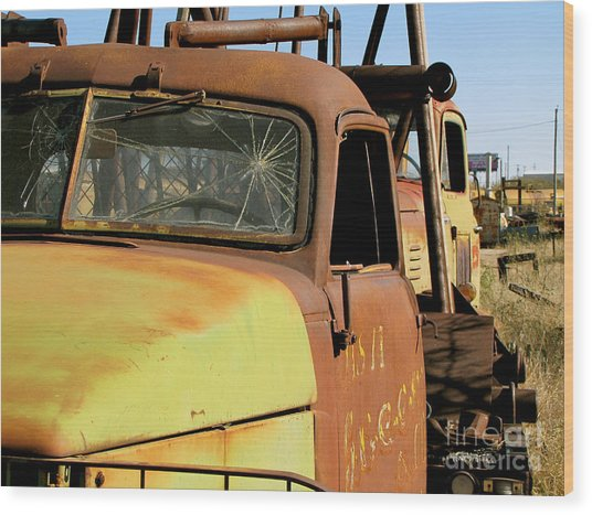 Rusty Tow Wood Print by Slade Roberts