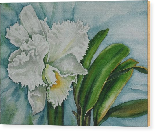 Ruth's Orchid Wood Print