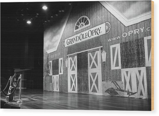 Ryman Opry Stage Wood Print