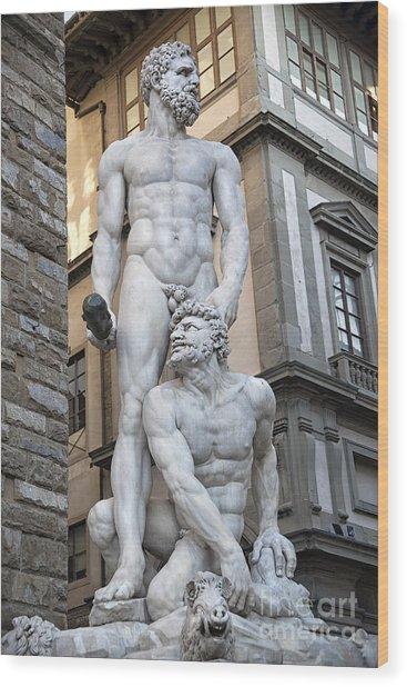 S 43 Hercules, Florence Wood Print by Norberto Torriente
