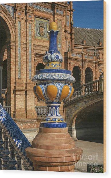 S 44 Alcazar, Seville, Spain  Wood Print by Norberto Torriente