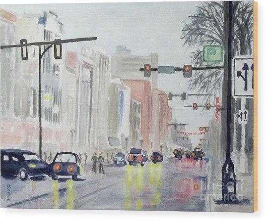 S. Main Street In Ann Arbor Michigan Wood Print