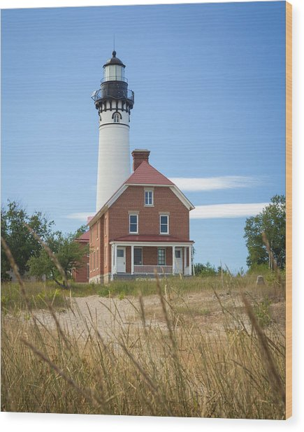Sable Point Lighthouse Wood Print