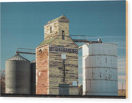 Saco Grain Elevator Wood Print