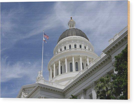 Sacramento Capitol Building Wood Print