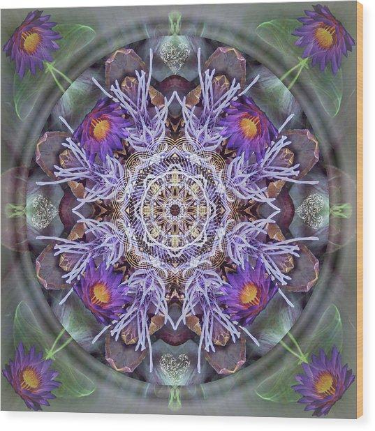 Sacred Emergence Wood Print