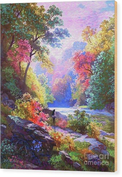 Sacred Landscape Meditation Wood Print