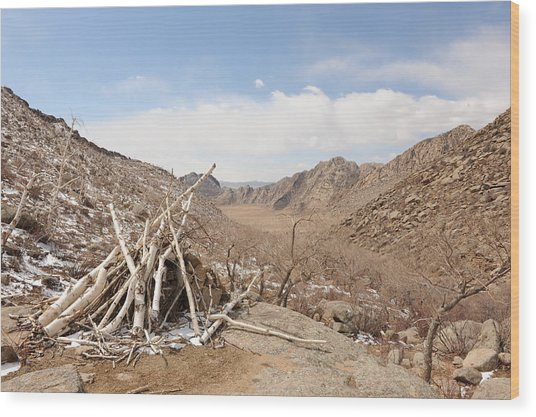 Sacred Mountain Wood Print by Jessica Rose