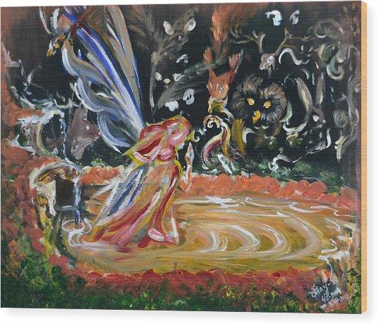 Sacred Pool 2 Wood Print