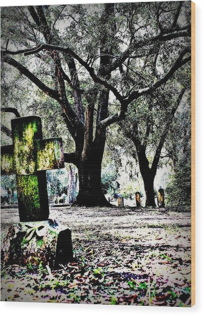Sacred Rest Wood Print by Jill Tennison