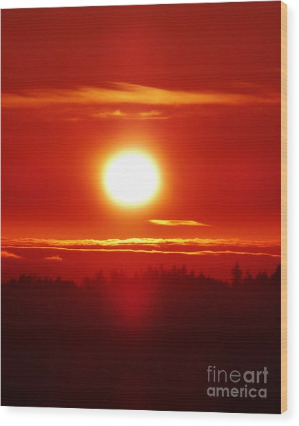 Sacred Sizzling Sunset Wood Print by JoAnn SkyWatcher