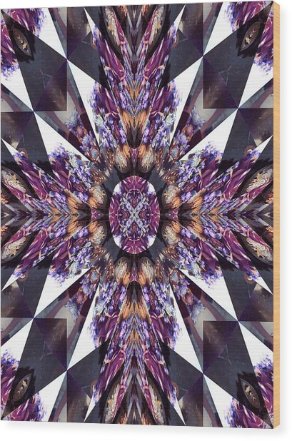Sacred Star Wood Print by Ricky Kendall