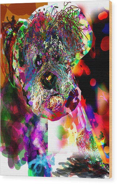 Sad Dog Wood Print by James Thomas