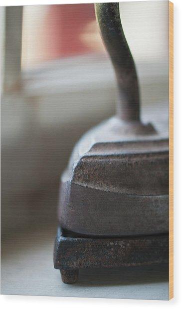 Sad Iron Wood Print