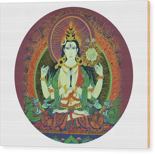Sada Shiva  Wood Print